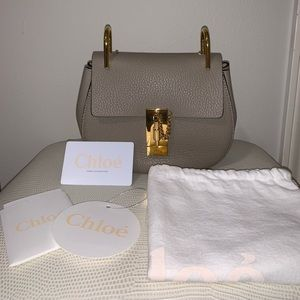 Chloé mini drew motty grey